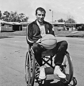 Young Frank with basketball